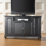 Cambridge 60 TV Stand in Black Finish - Crosley Furniture - KF10001DBK