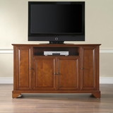 LaFayette 60 TV Stand in Classic Cherry Finish - Crosley Furniture - KF10001BCH