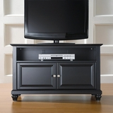 Cambridge 42 TV Stand in Black Finish - Crosley Furniture - KF10003DBK