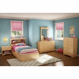 Kids Bedroom Furniture Set 1 in Natural Maple - South Shore Furniture - 3113-BSET-141