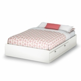 Full Mates Bed (54) in Pure White - Sparkling - South Shore Furniture - 3260211