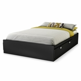 Full Mates Bed (54) in Solid Black - Spark - South Shore Furniture - 3270211