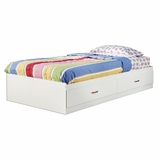 Twin Size Mates Bed in Pure White - South Shore Furniture - 3660213