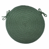 Tapestry Hunter Green 15 Braided Chair Pad - Rhody Rug - TA-2215CPHG