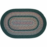 Tapestry Hunter Green 4' Round Braided Rug - Rhody Rug - TA-224RDHG
