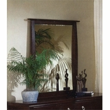 Mirror in Mocha Finish with Solid Wood and Wood Veneers
