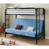 Bunk Bed - Twin / Futon Bunk Bed in Black - Coaster - 2250K