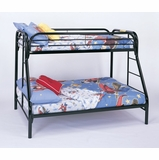 Bunk Bed - Twin / Full Size Bunk Bed in Black - Coaster