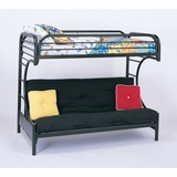 Bunk Bed - C Style Twin / Futon Bunk Bed in Black - Coaster