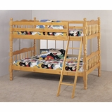 Bunk Bed - Twin / Twin Size Bunk Bed with Ladder in Pine - Coaster