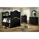 Lea Elite Retreat Black Full Bunk Bed with Chest and Bureau - 148-985R