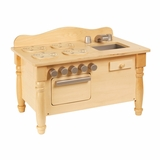Doll Play Kitchen in Natural - Guidecraft - G98120