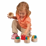 Educational Toy - Fraction Cups in Multi - Guidecraft - G6707