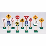 Educational Toy - 7 Traffic Signs (13/set) - Guidecraft - G309