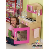 Pink Wooden Kitchen - KidKraft Furniture - 53195