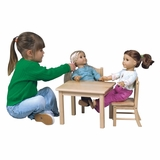 Doll Table and Chair Set in Natural - Guidecraft - G98114