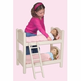Doll Bunk Bed - White - Guidecraft - G98127
