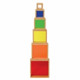 Stacking Rainbow Pyramid - Guidecraft - G5066