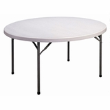 Blow Molded 60 Round Food Service Table - Correll Furniture - FS60R