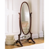 Cheval Mirror - Heirloom Cherry - Powell Furniture - 998-773