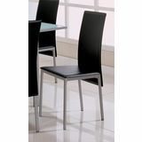 Side Chair (Set of 4) in Pearl Silver / Black - Coaster