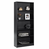 72 Tall Bookcase in Black - Essentials Collection - Nexera Furniture - 731206