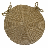 Duet Flax 15 Braided Chair Pad - Rhody Rug - D-53315CPFL