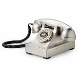 Retro Phone - 302 Desk Phone - Brushed Chrome - Crosley - CR60-BC