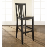 (Set of 2) Shield Back Bar Stool in Black Finish with 30 Inch Seat Height - Crosley Furniture - CF500130-BK