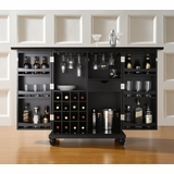 Cambridge Expandable Bar Cabinet in Black Finish - Crosley Furniture - KF40001DBK