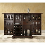 Alexandria Expandable Bar Cabinet in Vintage Mahogany Finish - Crosley Furniture - KF40001AMA