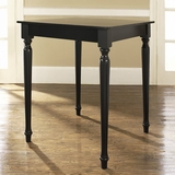 Turned Leg Pub Table in Black Finish - Crosley Furniture - KD20003BK