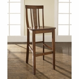 (Set of 2) Shield Back Bar Stool in Classic Cherry Finish with 30 Inch Seat Height - Crosley Furniture - CF500130-CH