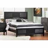 Queen Size Bed - Grove Queen Size Bed in Black - Coaster - 201651Q