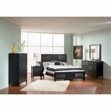 Grove Queen Size Bedroom Furniture Set in Black - Coaster - 201651Q-BSET