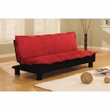 Sofa Bed Convertible in Red - Charmaine - SA-CHN-D2-RD
