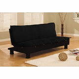 Sofa Bed Convertible in Black - Charmaine - SA-CHN-D2-BK