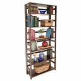Bookcase - Flip-Flop 6 Shelf Folding Bookcase - HBCF6730