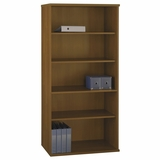 Open Double Bookcase - Series C Warm Oak Collection - Bush Office Furniture - WC67514
