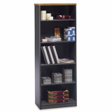 Bookcase 5-Shelf - Series A Natural Cherry Collection - Bush Office Furniture - WC57465