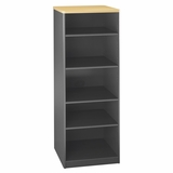 Bookcase - 19.5 Deep - 5 shelf - Series A Beech Collection - Bush Office Furniture - WC14368