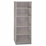 Bookcase - 19.5 Deep - 5 shelf - Series A Pewter Collection - Bush Office Furniture - WC14568