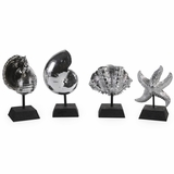 Decorative Silver Shells (Set of 4) - IMAX - 1403-4