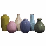 Mini Tuscany Vases (Set of 6) - IMAX - 35004-6