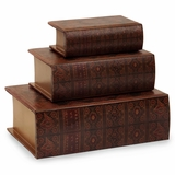 Nesting Wooden Book Boxes (Set of 3) - IMAX - 13100-3