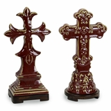 CK Cardinal Crosses (Set of 2) - IMAX - 44041-2