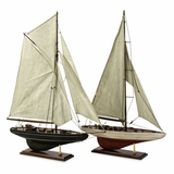 Antiqued Sailing Vessels (Set of 2) - IMAX - 50880-2