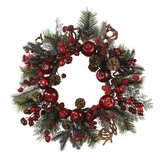 22 Apple Berry Wreath - Nearly Natural - 4677