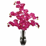Phalaenopsis with Vase Silk Flower Arrangement - Nearly Natural - 1191-BU