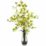 Dendrobium with Vase Silk Flower Arrangement - Nearly Natural - 1190-GR